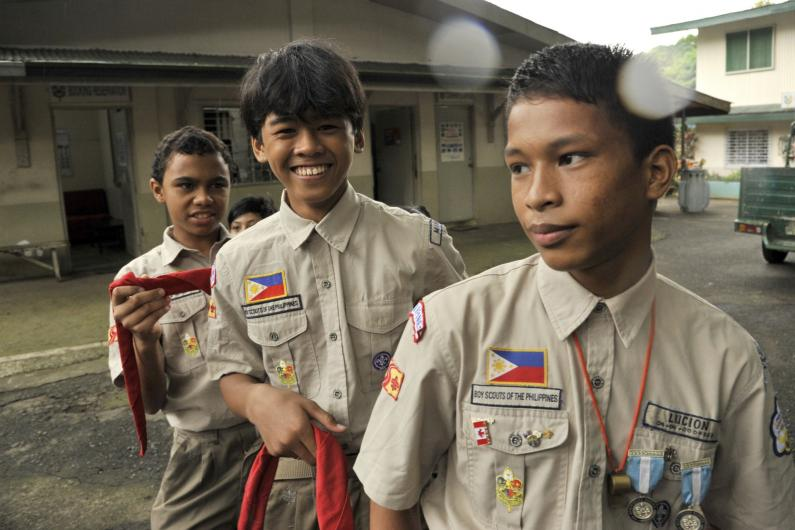 Scouts are helping street kids